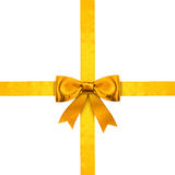 Gold ribbons Royalty Free Stock Image