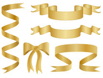 Gold Ribbons and Bows Stock Photo
