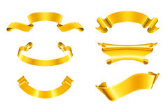 Gold ribbons, set Stock Image