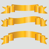 Gold Ribbons Stock Photos
