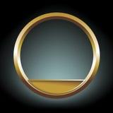 Gold rim Royalty Free Stock Image