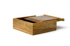 Gold rimmed nanmu jewel box. A gold rimmed nanmu jewel box  by hand Stock Photo