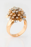 Original gold diamonds ring Stock Photo