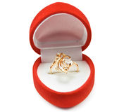 Gold ring. A gold ring in box Stock Images