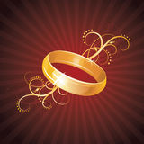 Gold ring. Royalty Free Stock Photography