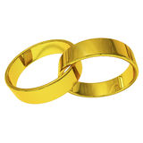 Gold ring. With white background work best wedding or Engaged Royalty Free Stock Images