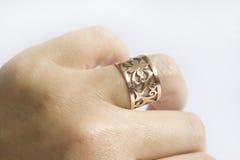 Gold ring. On white Royalty Free Stock Photos