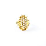 Gold ring with brilliant Royalty Free Stock Photo
