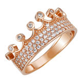 Gold ring crown Royalty Free Stock Images