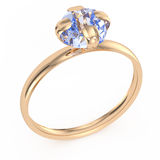 Gold ring with diamond Royalty Free Stock Photo