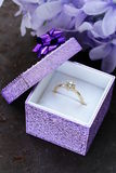 Gold ring with diamond Stock Images