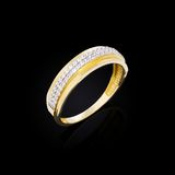 Gold ring with diamonds Royalty Free Stock Photo