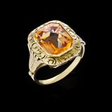 Gold ring with gemstone Royalty Free Stock Photo