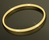 Gold Ring Representing Love Royalty Free Stock Photo