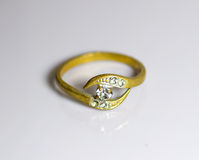 Gold ring Royalty Free Stock Image