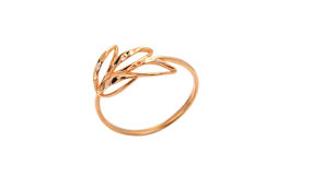 Gold Ring. A gold ring on a white background Stock Photography