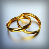 Gold rings Stock Images