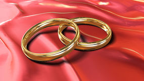 Gold rings Royalty Free Stock Photos