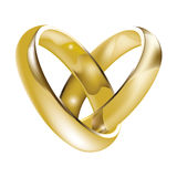 Gold Rings. Pair of gold wedding rings Stock Photo