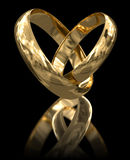 Gold rings (clipping path included) Royalty Free Stock Image