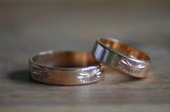 Gold rings. Royalty Free Stock Photos