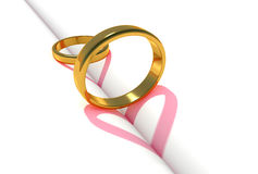 Gold rings love Stock Image