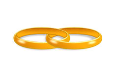 Gold rings. Royalty Free Stock Photography