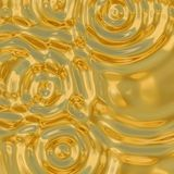 Gold ripples. A very large rendered illustration of ripples in molten gold Royalty Free Stock Photos
