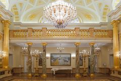 Gold room of State historical museum Royalty Free Stock Photography