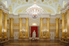 Gold room with statue of historical museum Royalty Free Stock Photography