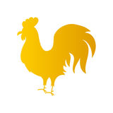 Gold Rooster Silhouette. Vector Illustration of Chinese Happy New Year Symbol Royalty Free Stock Image