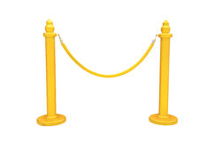 Gold rope barrier Royalty Free Stock Image