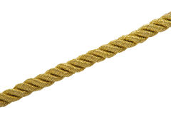 Gold rope isolated Royalty Free Stock Photography