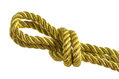Gold rope knot Royalty Free Stock Photography