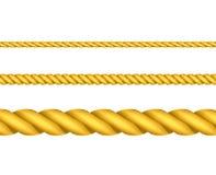 Gold ropes Royalty Free Stock Photos