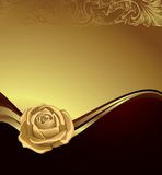Gold Rose Royalty Free Stock Image