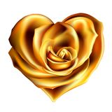 Gold_rose_heart Stock Photo