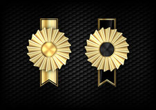Gold Rosettes Royalty Free Stock Images