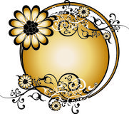 Gold Round Background Vector Royalty Free Stock Photography