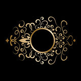 Gold round frame Royalty Free Stock Images