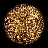 Gold round glitter background Stock Image