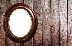 Gold round modern Antique pattern frame on vintage Royalty Free Stock Photos