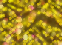 Gold Round Shapes in Chaotic Arrangement. Bokeh backgrounds Royalty Free Stock Photo