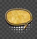 Gold round sparkle comic text bubble Royalty Free Stock Photo
