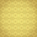 Gold Rounded Corner Rectangle and Flower and Line Pattern Stock Photography