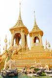 Gold of The Royal Crematorium for King Bhumibol Adulyadej at November 04, 2017. Bangkok, Thailand - November 04, 2017; Gold of The Royal Crematorium for King Stock Photo