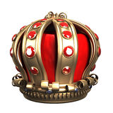 Gold royal crown. 3d illustration Royalty Free Stock Photos