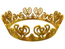 Gold royal crown Stock Photography