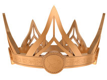 Gold royal crown. Isolated on a white background Stock Image