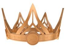 Gold royal crown Stock Image